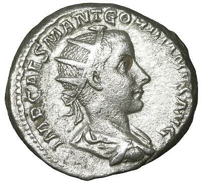 Gordian III AR Antoninianus old ancient roman silver coin Rome Empire Imperial
