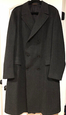 Vintage Gino Pacelli Finely Tailored Mens Long Wool Overcoat - Union Made