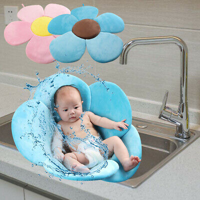Blooming Flower Baby Infant Bathtub Mat Soft Bath Support Cushion Pad Foldable