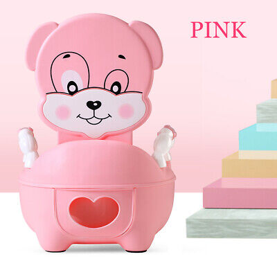 2 in 1 Baby Kids Toilet Trainer Toddler Potty Child Training Seat Safety Pink
