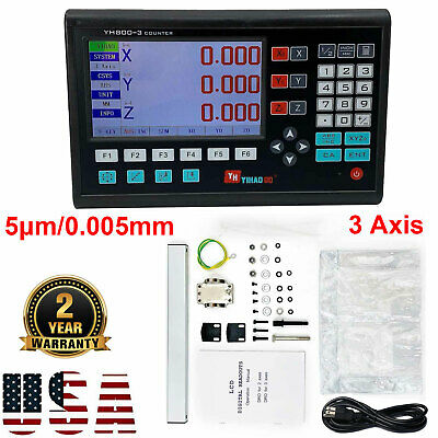 3 Axis Digital Readout LCD DRO TTL Linear Encoder for Milling Lathe Display 5µm