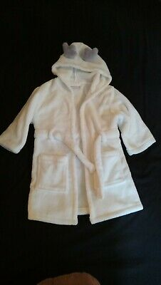 White Soft Dressing Gown Age 1-2 years