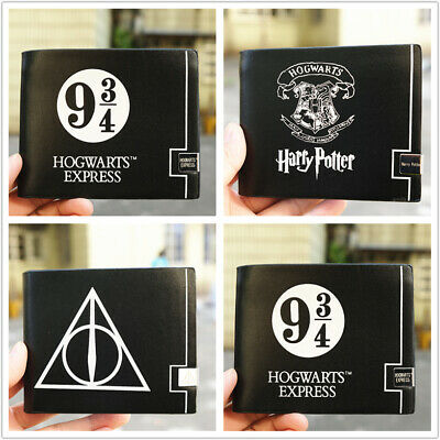 Harry potter iron logo PU leather wallet Short Bi-fold ID Card Holder Purse
