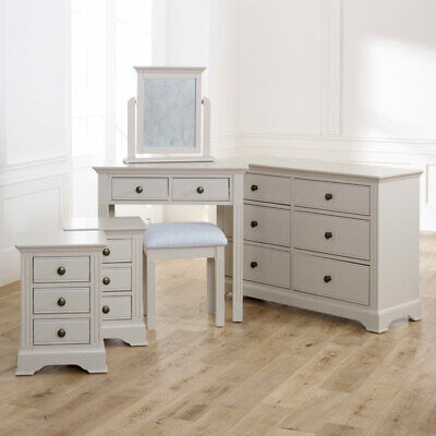 Taupe Gris Chambre Meuble Grand Commode Coiffeuse Table De