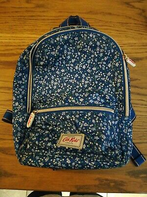 Child's Small dark blue CATH KIDSTON Backpack Bag floral Print