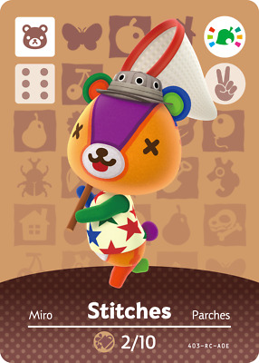 Animal Crossing Amiibo Card 'Limited Edition' Stitches 27/12 Nintendo Wii U 3DS