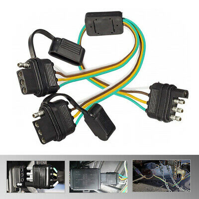 Auto Parts and Vehicles Auto Parts & Accessories MICTUNING Trailer Splitter  2-Way 4 Pin Y-Split Wiring Harness Adapter Car Truck | Split 4 Pin Trailer Wire Harness |  | Shraddha Institute