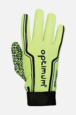 Optimum Junior Velocity Glove Thermal Grip Grip Rugby Full Fingers Yellow Sz Xxs