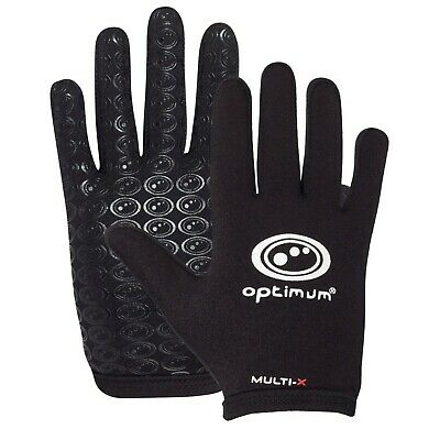 Optimum Sports Multi-X Junior Gloves Full Rugby Training Thermal Grip Mitts Xxxs