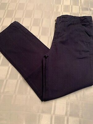 Marks And Spencer Boys Navy Chinos 11-12 Great Used Condition