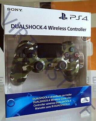Dualshock 4, V2, Green Camo, Camouflage, Controller, Sony Playstation 4, Ps4 Eur