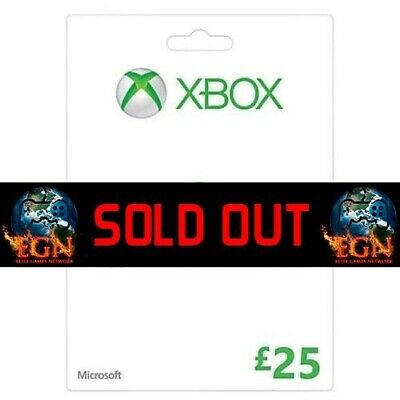 Microsoft Xbox Live Gift Card - £25 Brand New & Sealed + Manufacturers Warranty