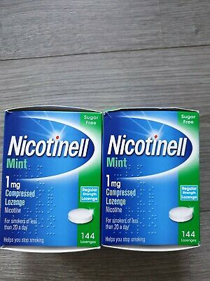 NICOTINELL MINT 1mg Compressed Lozenges-144+144—2 Boxes