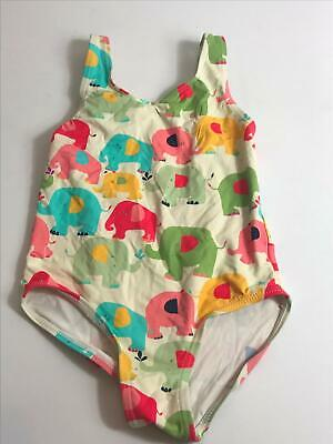 Girls Next White & Multi Colour Elephant Swimming Costume Age 4-5 Years Swimsuit