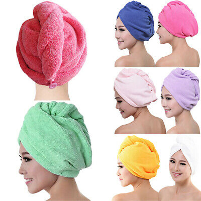 Fast Drying Towel Turban Dry Hair Wrap Cap After Shower Microfibre Water Sucking