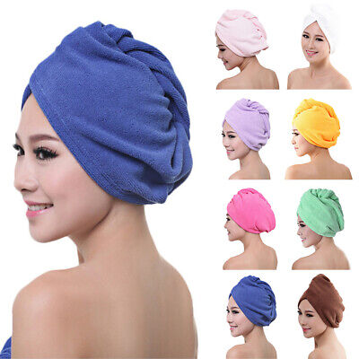 Fast Drying Towel Turban Dry Hair Wrap Quick Cap After Shower Shampoo Bathroom