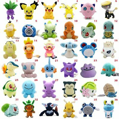 36 Styles Pikachu Anime Plush Pokemon Doll Soft Stuffed Gift Kids Toy