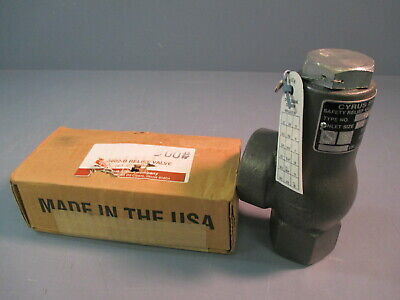 """Cyrus Shank Co. Pressure Relief Valve Inlet Size 1/2"""" 300 Psig 5602-B"""