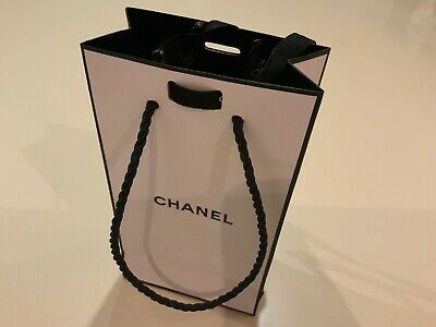 EMPTY CHANEL paper Gift Bag With Ribbon Perfume Sized