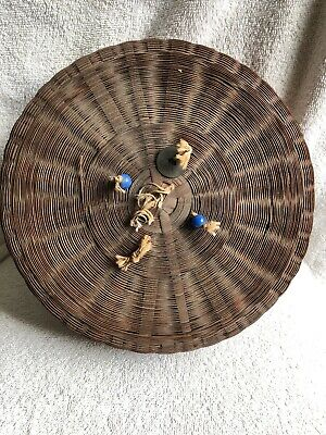 Vintage Antique Chinese Wicker Sewing Basket