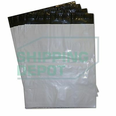 """100 19x24 White Poly Mailers Bag Self Seal Shipping 19"""" x 24"""" 2 MIL"""
