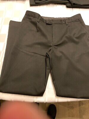 Marks And Spencer Boys Black School Trousers Age 14-15 Years, Great Condition