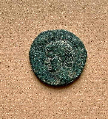 ROMAN EMPEROR AUGUSTUS BRONZE COIN (1st cent. AD). A very nice piece!
