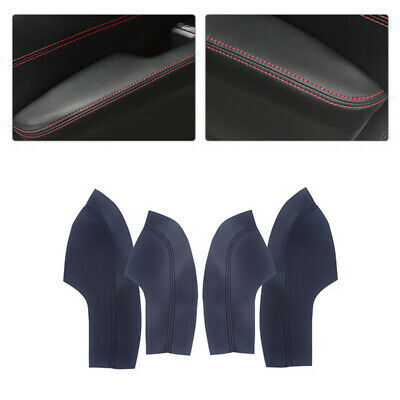 Door Armrest Leather Surface Shell COVER Trim Black for Honda Civic 10th 16-2018