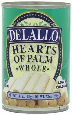 Delallo Heart Of Palm Whole 14.1 Oz Pack of 12