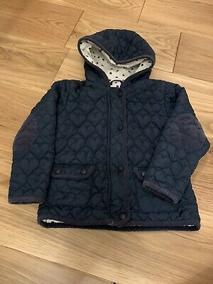 Girls NEXT 4-5 Years Quilted Navy Blue School Coat Jacket