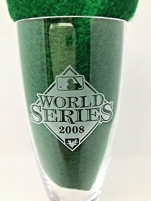 World Series 2008 Commemorative Champagne Glass Phillies vs, Tampa Bay Series