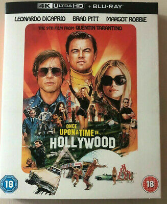 Once Upon A Time In Hollywood Uk 4K Uhd Blu Ray Mint Condition