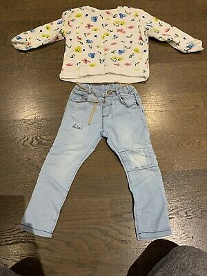 Zara Girls Outfit/Jumper & Jeans 2-3 Years