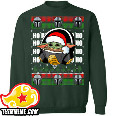 Baby Yoda Frieza Ugly Christmas Sweater Star Wars Mandalorian Dragon ball S-5XL