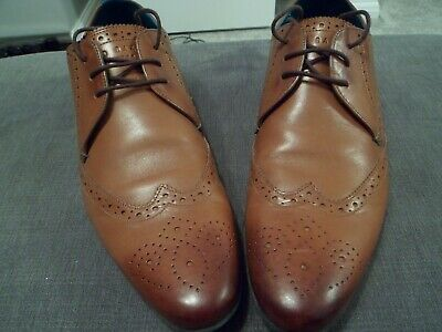 Ted Baker Mens Shoes UK 11 Tan Leather Hann2 Only Worn Once