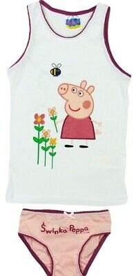 New Girls Peppa pig  Vest + Pants Set underwear size 6-7 years