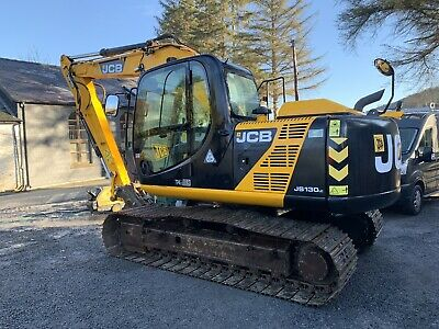 2013 JCB JS130 LC Excavator / Digger Forestry / Tree Shear / Flail