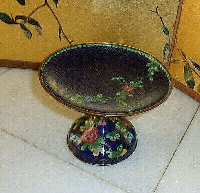 Antique Chinese Cloisonne Small Compote/Stand