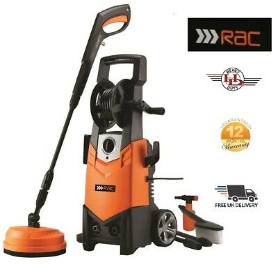 RAC 1900W 140 Bar Pressure Washer Car Driveway & Patio Cleaner with Accessories