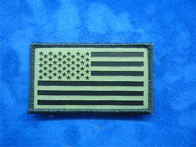 """AUSTRALIA FLAG PATCH IR MB ON GREEN 3.5/""""X2/"""" COLL#272 WITH VELCRO® BRAND FASTENER"""