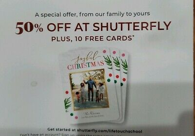 Shutterfly Coupon 50% Off  & 10 Cards 1/31/20