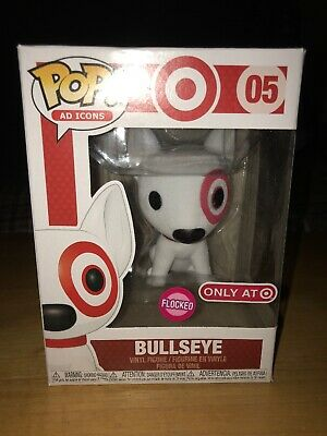 Funko Pop Ad Icons Flocked Bullseye Red Collar #5 Target Exclusive Damage Box