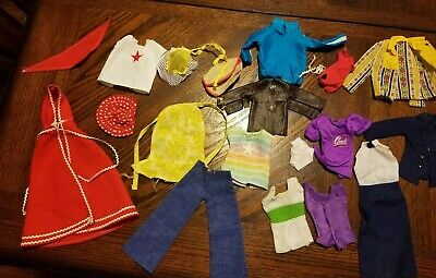 Lot of 20 Barbie Doll Clothes, red riding hood cape, faux leather jacket