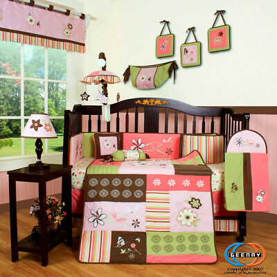 13PCS Floral Dream Baby Nursery Crib Bedding Sets - Holiday Special