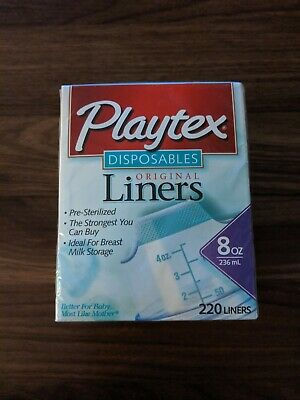Collectible Vintage Playtex Disposable Originals Liners 8 OZ Size Box Of 220 NWT