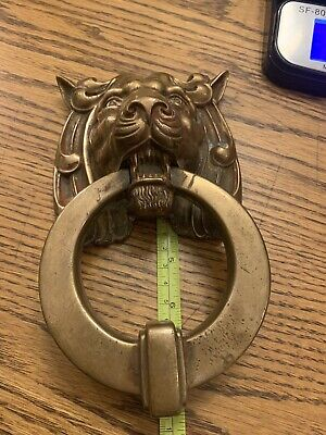 HUGE Antique Victorian English Bronze Lion's Head Door Knocker Almost 4lb Beauty