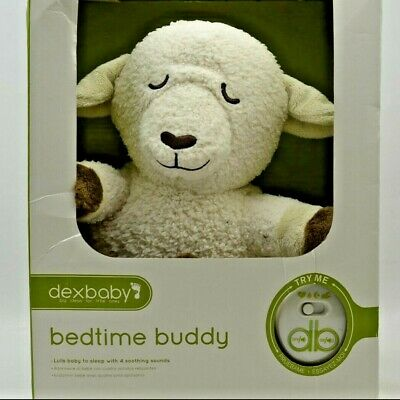 Dexbaby Soft Bedtime Lamb Womb Sound Soother Buddy Sheep White Noise Maker Lovey