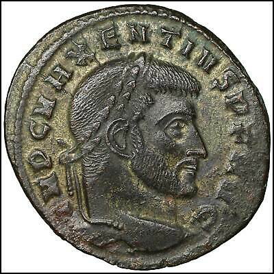 Maxentius Bronze Follis old ancient roman coin Rome Empire Imperial Authentic