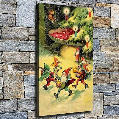 """12""""x22"""" Christmas Dwarf Paint HD Canvas prints Home decor Room Wall art Pictures"""
