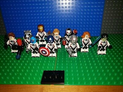 Marvel Avengers End Game Minifigures Fits Legos Iron Man Hulk Thor Rocket Lot 52